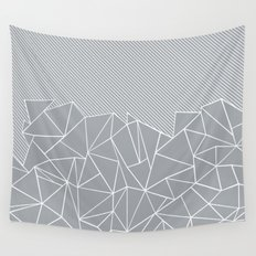 Ab Linear Grey Wall Tapestry