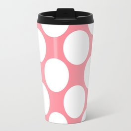 Polka Dots Pink Travel Mug