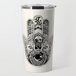 Hamsa Hand French Bulldog Travel Mug