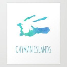 Cayman Islands Art Print