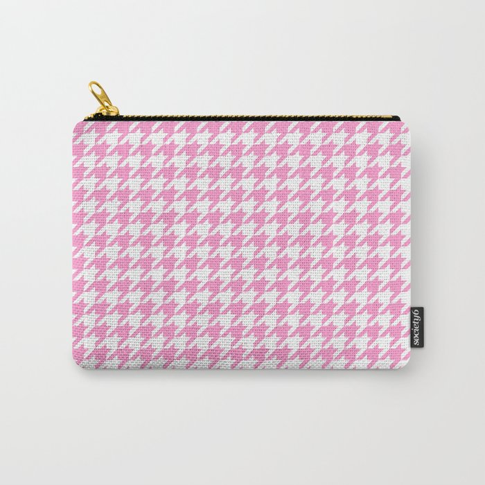 Rose Quartz Houndstooth Carry-All Pouch