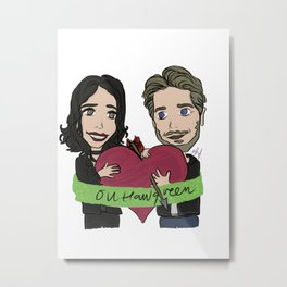 Outlaw Queen Lana Parrilla and Sean Maguire (Enchanted outfits) Metal Print