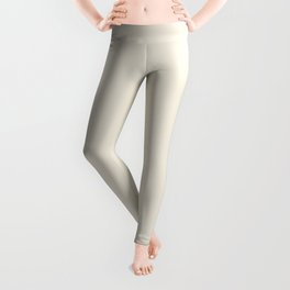 Off-White - Rice Paper - Warm Cream Ultra Pale Yellow Solid Color Parable to Behr Papier Blanc HDC-N Leggings