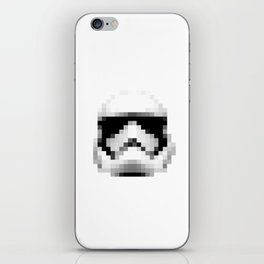 Vintage 2017 Storm Trooper Helmet Pixel - Starwars iPhone Skin