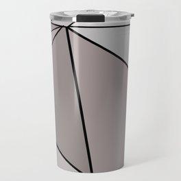 Graphic Geometric Shape Gray Travel Mug