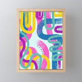 Fun bright abstract art Framed Mini Art Print