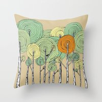 fall Throw Pillows featuring Fall by Chris Gregori