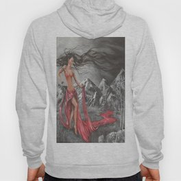 Mother Earth and 4 elements of air, fire, water, land during Creation Hoody