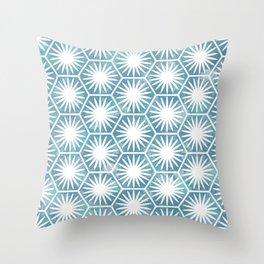 Watercolor daisy Throw Pillow