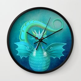 Blue Dragon Wall Clock