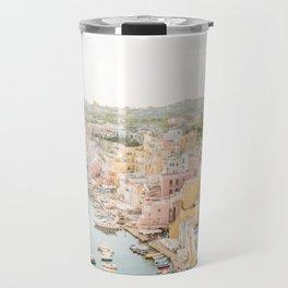 Procida Italy Gorgeous Pastel Architecture Travel Mug