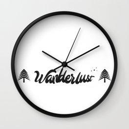 Wanderlust Artwork Wall Clock