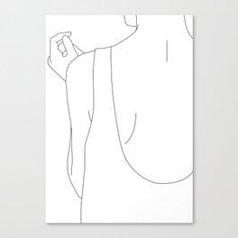 Fashion illustration line drawing - Carl Canvas Print