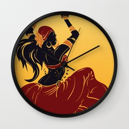 abstract tribal gypsy dancer Wall Clock