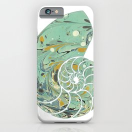 Marbled Chambers of the Nautilus iPhone Case