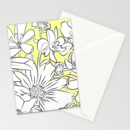 Flower Meadow Yellow Stationery Cards