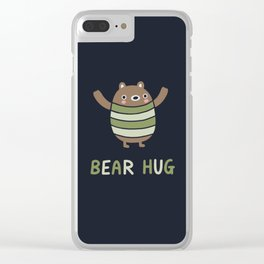 Bear Hug Clear iPhone Case