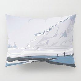 Vik Reynisfjara Black Sand Beach, Iceland Travel Poster Pillow Sham