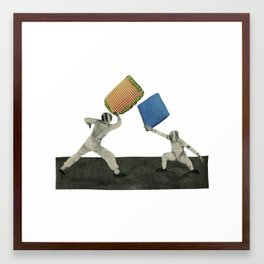 Pillow Fighters Framed Art Print