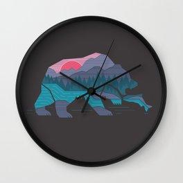 Bear Country Wall Clock