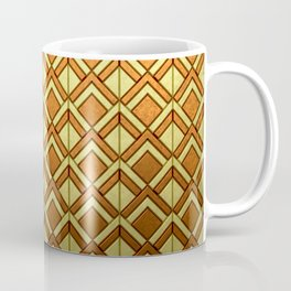 Cascading Squares Brass and Copper - Art Deco Pattern Coffee Mug