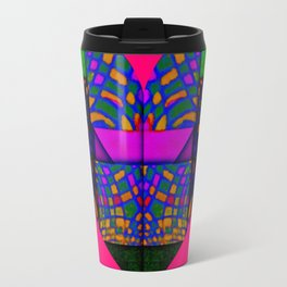 PINK AND GREEN HEART Travel Mug