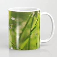 grass Mugs featuring Grass by Angela King-Jones