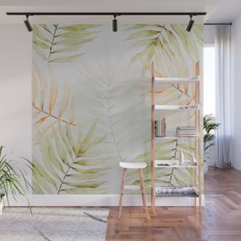 Summer Palm Leaves Wall Mural