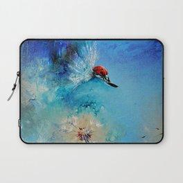 Flirt - Ladybug On DandelionFlirt - DETAIL Laptop Sleeve