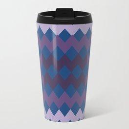 Blue Purple Quilt Travel Mug