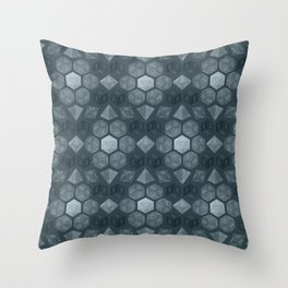 Dungeon Dice Pattern Throw Pillow