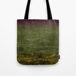 Gold, Emerald & Magenta Ombre Canvas Tote Bag