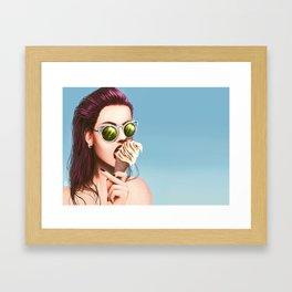 Daughter of a beach Framed Art Print