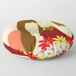 Mom and daughter Floor Pillow