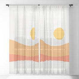 Geometric Landscape 22 Day Sheer Curtain