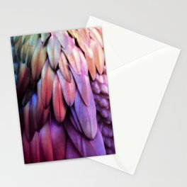 PARROT FEATHERS RAINBOW Stationery Cards