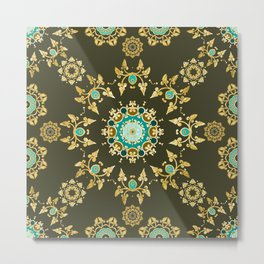 golden pattern Metal Print