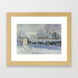 Monet, The Magpie (La Pie) (Die Elster) 1868-1869 Framed Art Print