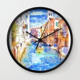 Venice - watercolor Wall Clock