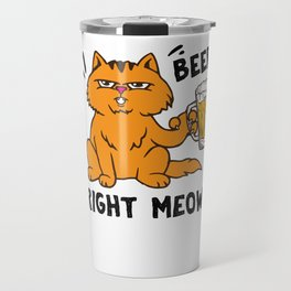 Beer Catwoman Cat Lady Cat mother gift Travel Mug