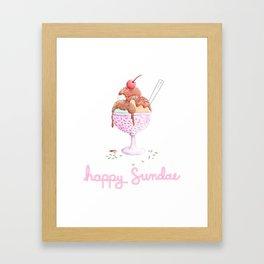 Happy Sundae Framed Art Print