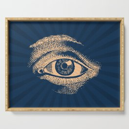Pop Art Retro Eye Pattern Serving Tray