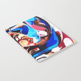 Expressive Abstract People Composition painting Notebook