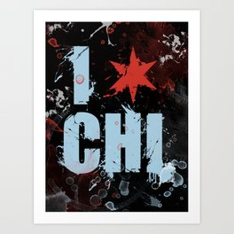 Chicago Love Art Print