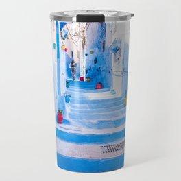 painted street walk, Chefchaen Morocco Travel Mug
