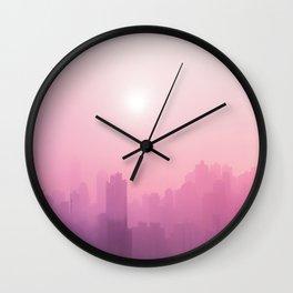 Pink Haze. Pink Sky Wall Tapestry, Rose Gold Wall Clock