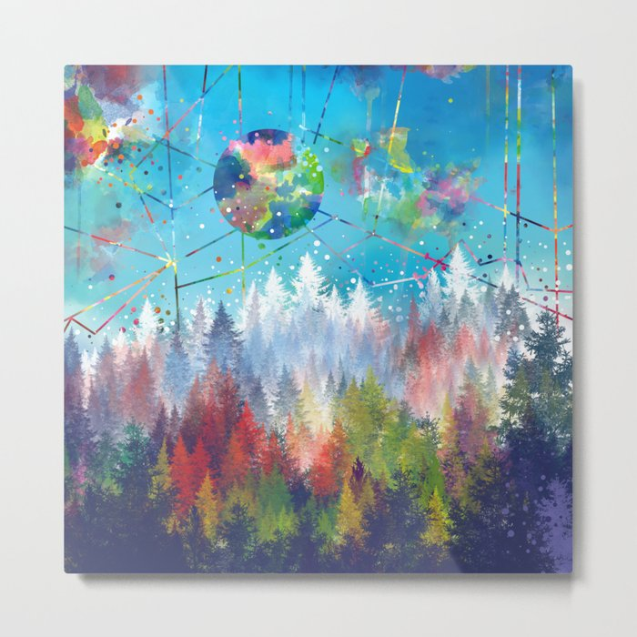 colorful forest 3 Metal Print