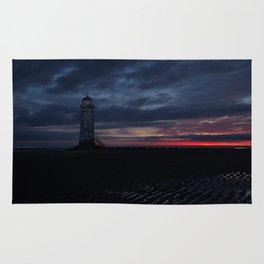 Talacre Lighthouse Sunrise Rug