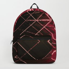 red starship deck space aesthetic abstract art print Backpack