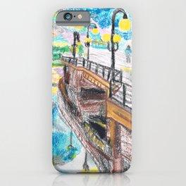 El cielo reflejado bajo un puente iPhone Case